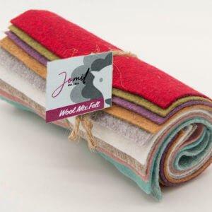 Dry Coloured Wool Mix Felt Pack