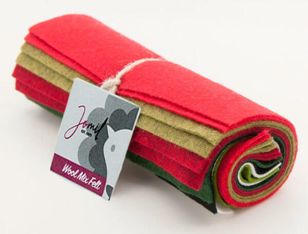 Brightly Coloured Wool Mix Felt Pack