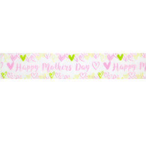 Pink Happy Mothers Day Love Ribbon