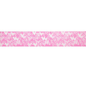 Pink Happy Hearts Ribbon