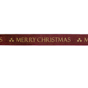 Red/Gold Merry Christmas Ribbon