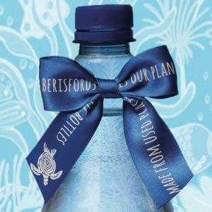 Blue Berisfords Bottle Bow