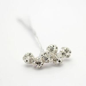 Diamante Ball on a Silver Wire