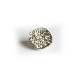 Glass Diamante Button