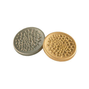 Web Patterned Gold Buttons