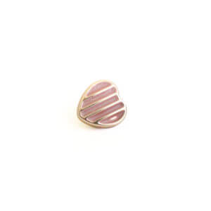 Pink & Gold Heart Button