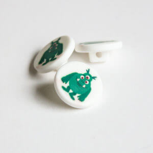 Green Monster Buttons