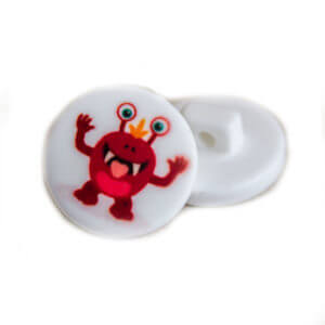 Red Monster Buttons