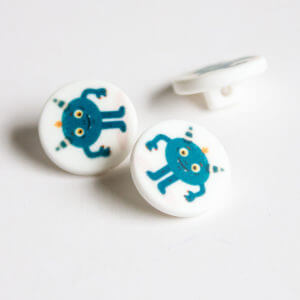 Blue Monster Buttons
