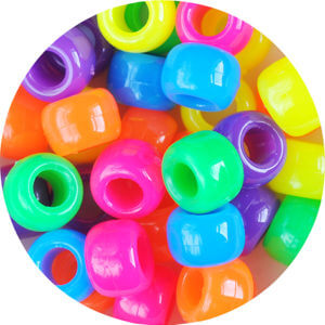 Variety of different solid coloured small beads