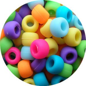 Multicoloured selection of small beads